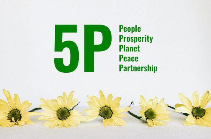 SDGsの17の目標を5つのPで分類