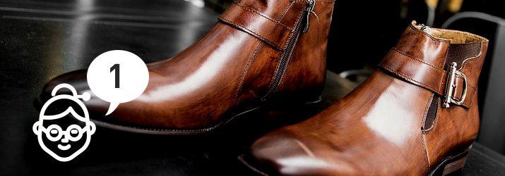 おばあちゃんの知恵①「ストッキングで靴磨き」