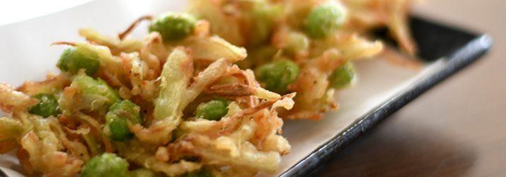野菜の皮や残り野菜でかき揚げを楽しむ